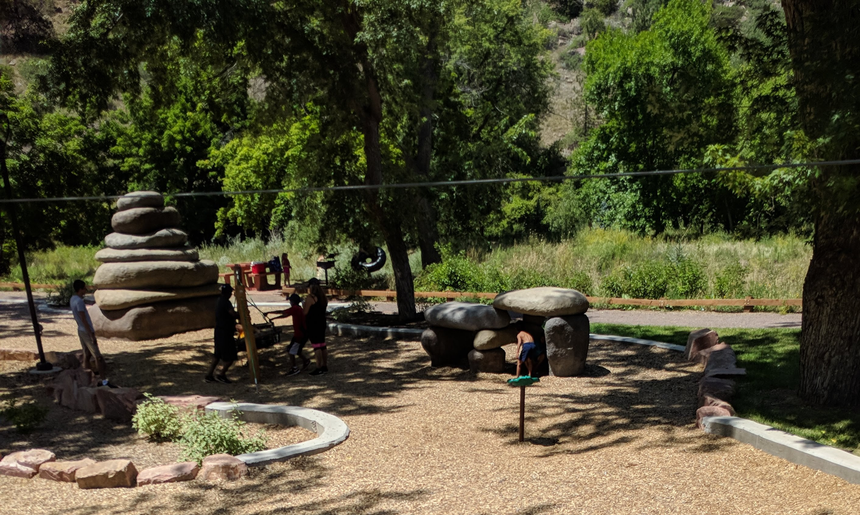 Rocky Play Structures and Zipline