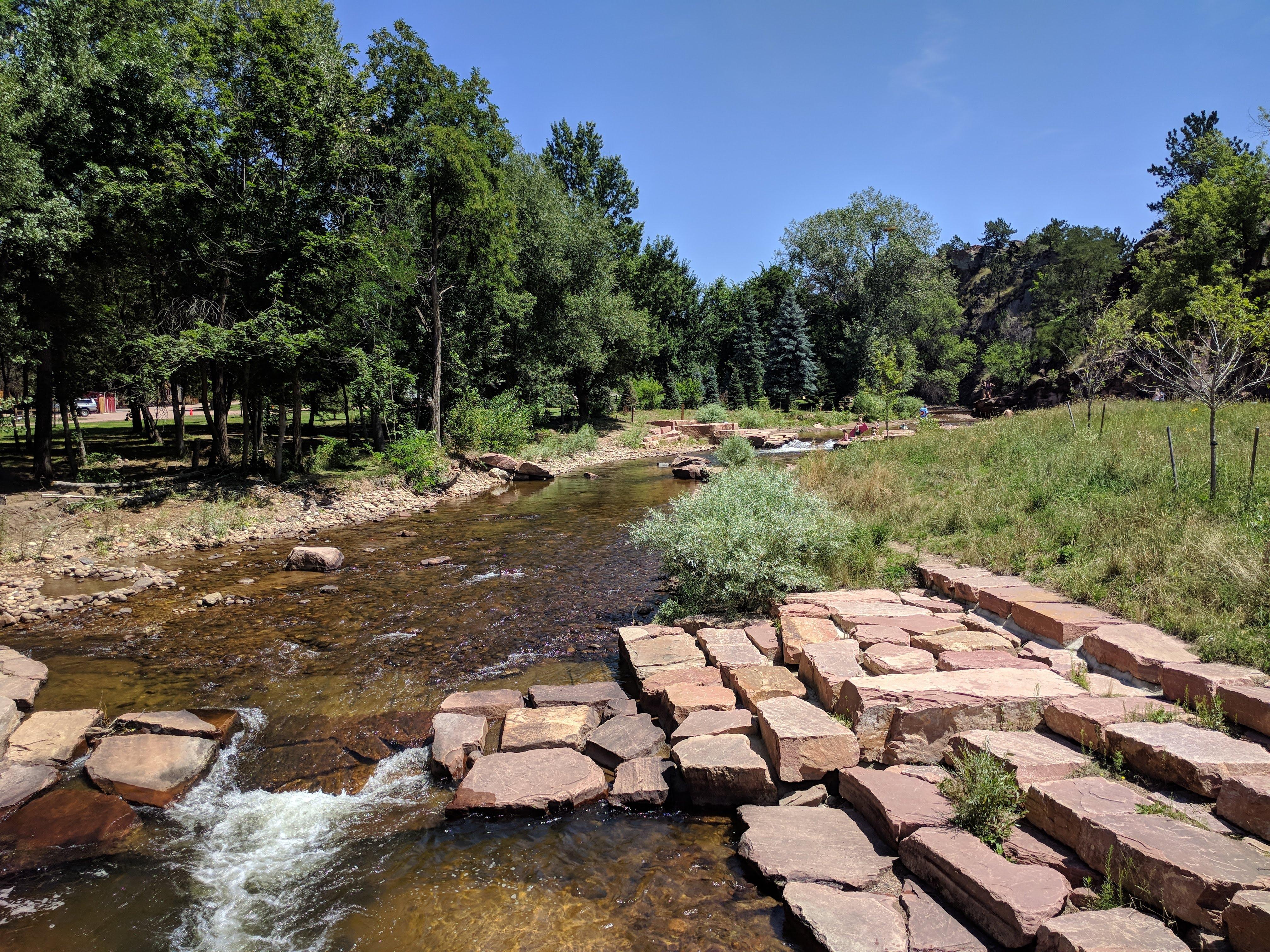 Creek around the park